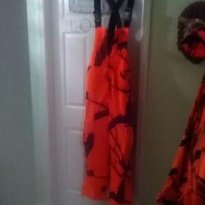 Field & Stream Orange Camo Winter Overalls